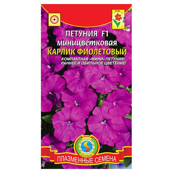 купить петуния миницветковая карлик фиолетовый F1